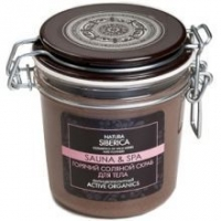 Натура Сиберика Sauna & Spa Горячий соляной скраб для тела Антицеллюлитный 350 мл
