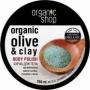 Скраб для тела голубая глина, 250мл, Organic Shop